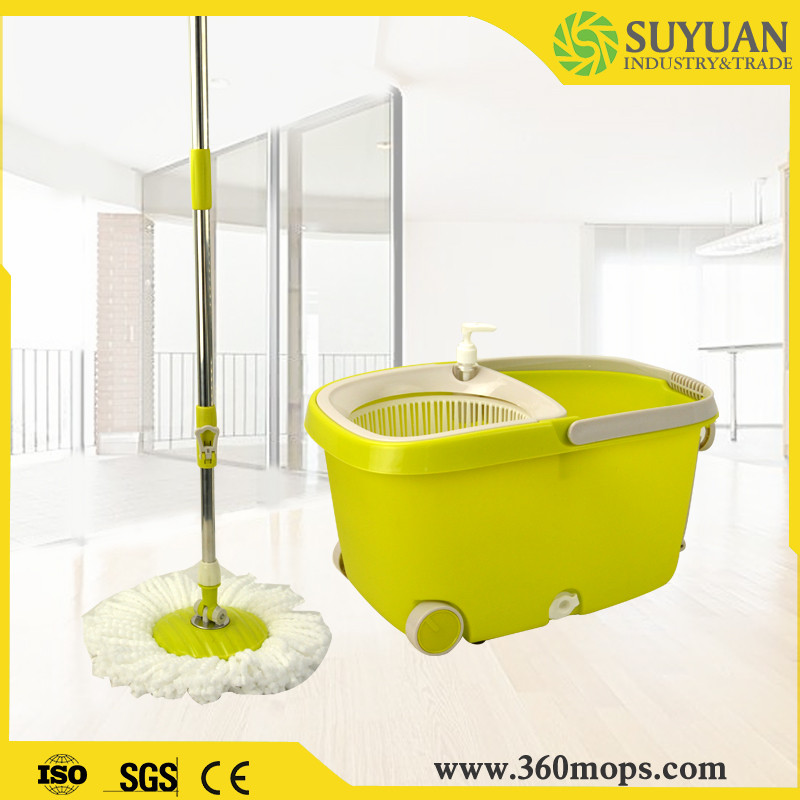 Serviceable 360 spin cleaning mop to easy portable with wheels