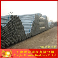 BS1387 galvanized steel pipe round tube