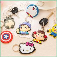 Wholesale rubber key chain, club soccer custom rubber 3D soft pvc keychain,T-shirt cloth pvc key ring