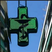 Wholesale price led pharmacy cross outdoor WIFI large LED church cross full color