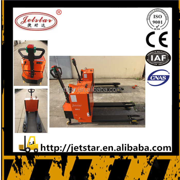 2500kg semi electric pallet forklift stacker truck