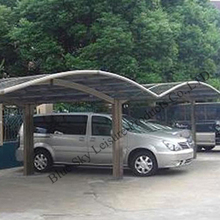 Outdoor polycarbonate car port for garden shed use