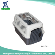 55T Plastic Pet Dog Cage On Plane With Double Doors