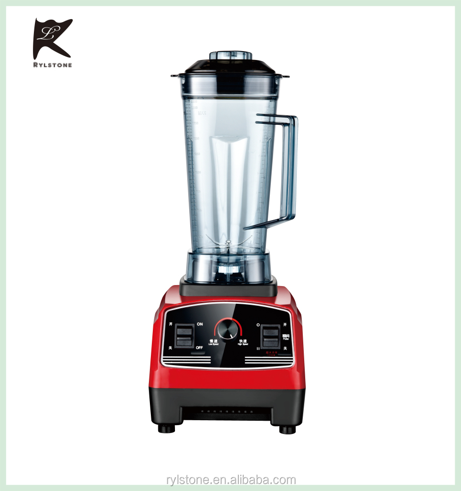 Cheap high speed multi-function 220V 1500W plastic red 2L smoothie blender