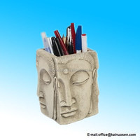 Resin Buddha Candle Holder Pen Pencil Holder