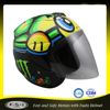 funny decal cool design open face motorcycle helmet with visor