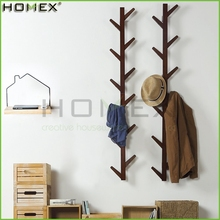 Tree Shape Bamboo Coat Rack Hat Rack Wall Mounted Clothes Rack/Homex_FSC/BSCI Factory