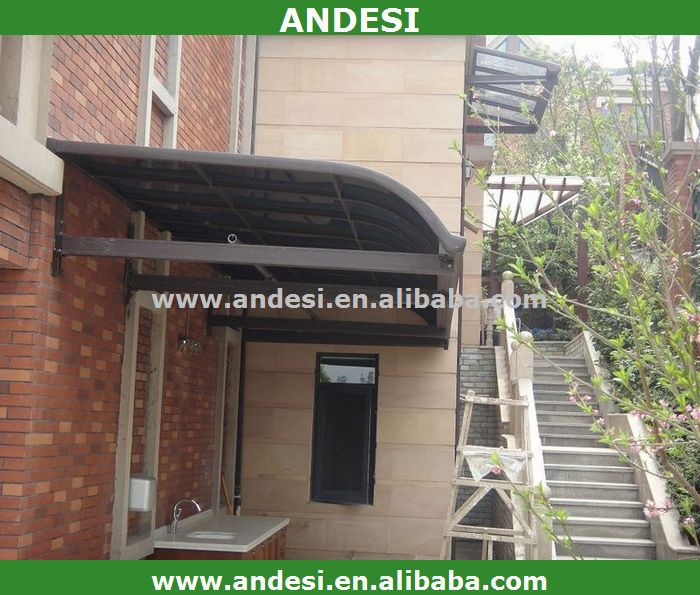 plastic door canopy awning