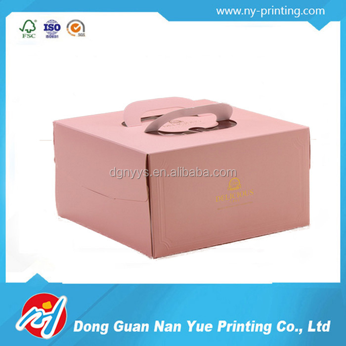 Lovely Design Pink Cake Packaging Box Design
