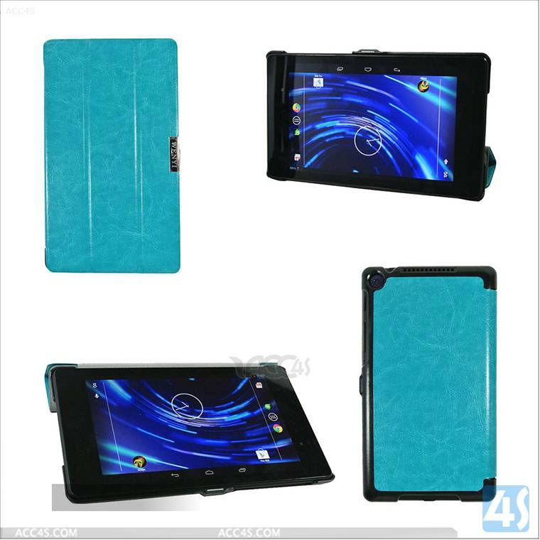 Ultra-thin three fold Slim Leather Case Smart Cover For Google Nexus 7 2 ii Inch Android Tablet P-GGNEXUS7IICASE015