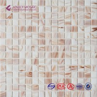 23x23mm glitter gold line glass mosaic wall tiles