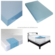 Cooling gel memory foam mattress topper