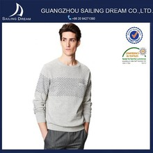 Direct factory price crew neck fashion design patterns knitwear with pocket