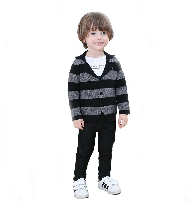 Hiah quality baby kids sweater coat fashion raised <strong>grain</strong> knitting boys casual cotton blazer