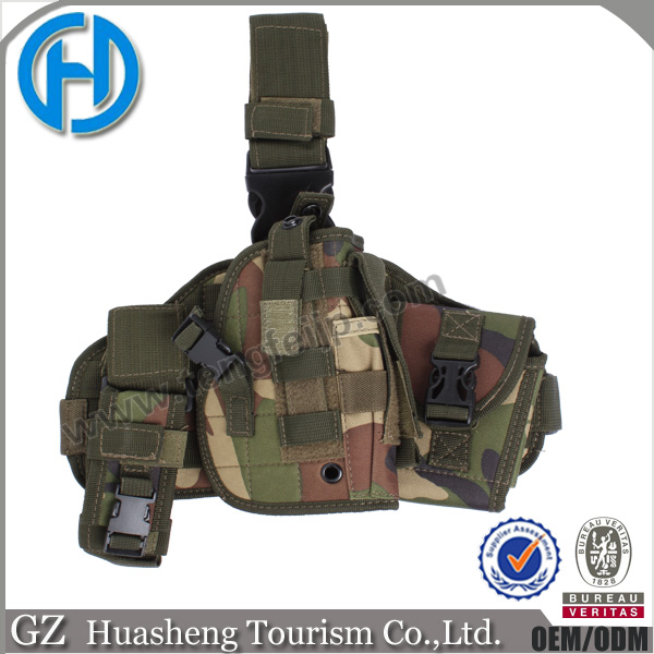 Military paddle holster gaiter style with handguff tactical holster