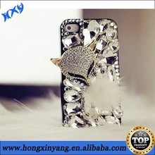 Wholesale High Quality Luxury Fox Rhinestone Crystal Hard PC Plastic Case For iPhone 5 5s