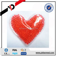 Romantic Heart Shape Gel Beads Hot Cold Pack for heating pad