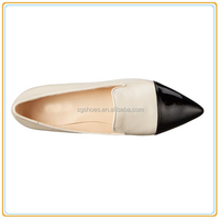 New design two tone flat women pointed toe ballet flat ladies shoes