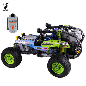 Mechanical Building Series of Off-road Vehicles Remote-Controlled Educational Toys
