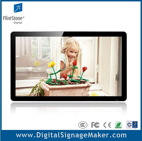 "Ipad style 32"" lcd flintstone ipad shape play from CF/SD card digital signage"