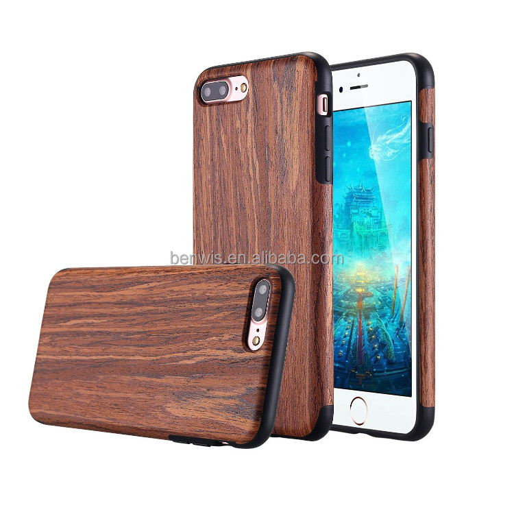wood case for iphone 7 free sample smart mobile phone cases back cover cheap wholesale bulk 7 plus mobile cell phone case