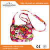 new style girl's floral quilted cotton crossbody bags