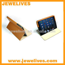 pu cover for ipad mini with stand ,flip stand cover for mini ipad/PU case for ipad mini with stand