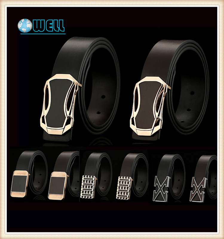 Factory High Quality Automatic Genuine Leather Black Man <strong>Belt</strong> With Buckle