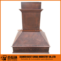 New arrival commmercial island copper range hood