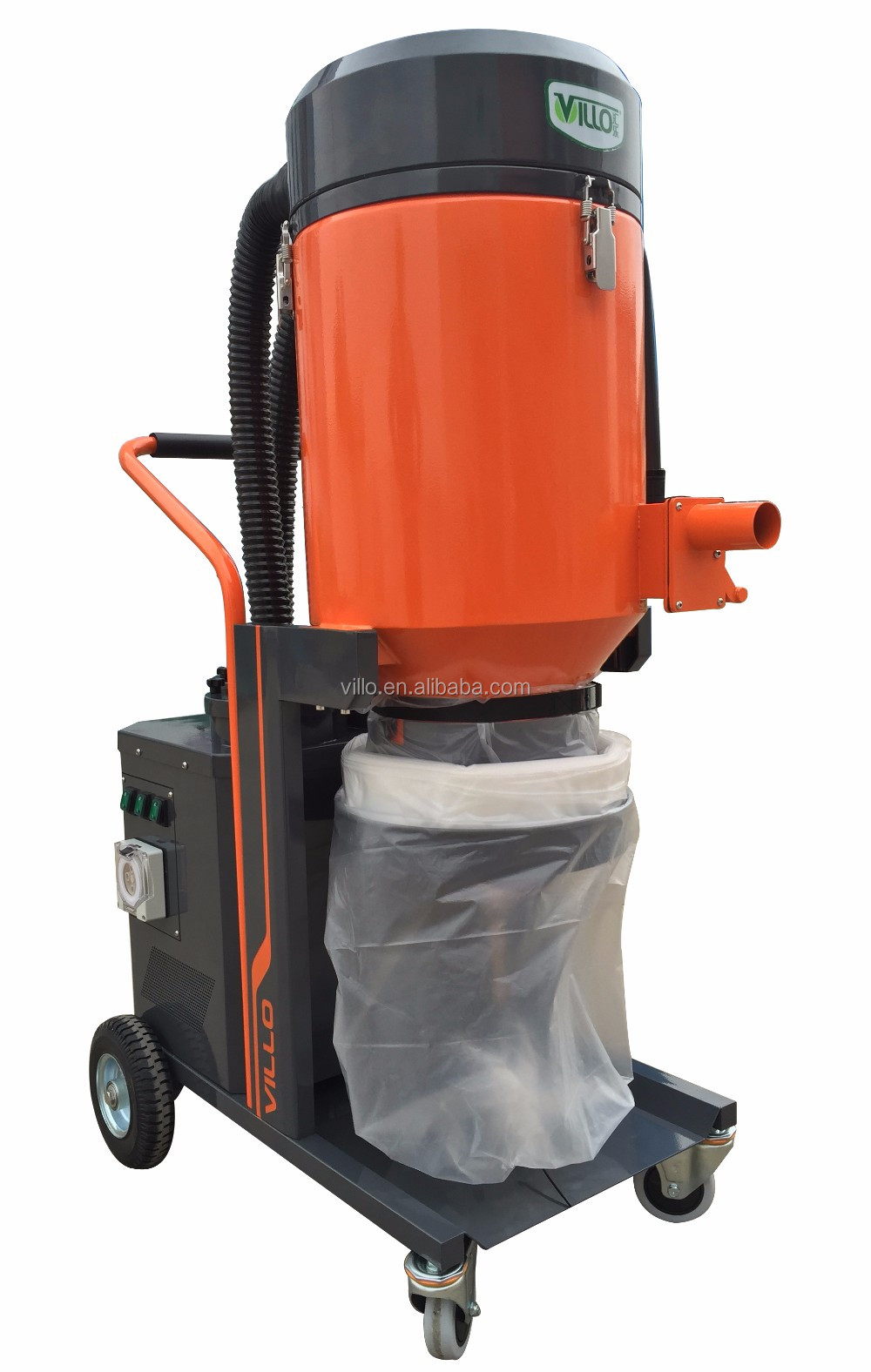 New Designed Concrete Dust Extractor with HEPA 13 Filter and Anti-static Hoses