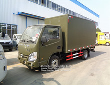 YUEJIN diesel engine type 4x2 6 wheels 2 tons mini van cargo truck with 3300x1740x1740mm cargo box size for sale