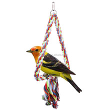 Colorful and luxury pet birds toys flying cotton Triangular shape bird toys