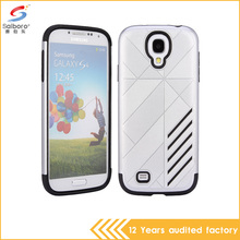 Wholesale Price silver color tpu with pc phone cover for samsung galaxy s4 case