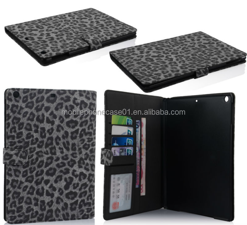 book style folding leather tablet case for ipad air