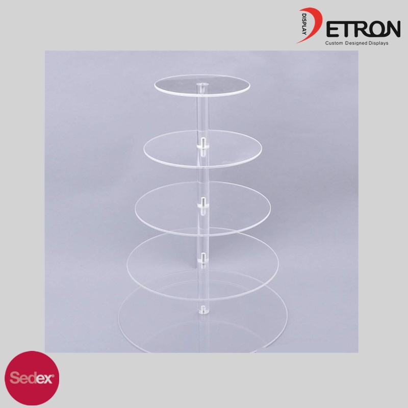 3 4 5 6 7 Tier Crystal Round Acrylic Cupcake Stand Wedding Birthday Cake Decorations Clear rack