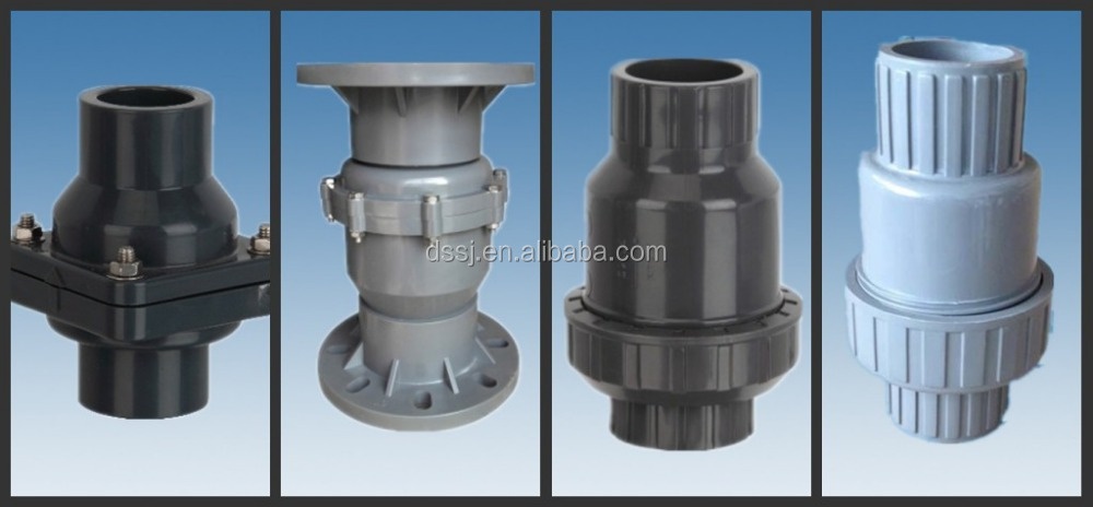 Inch pvc long hand thread ball valve plastic pipe