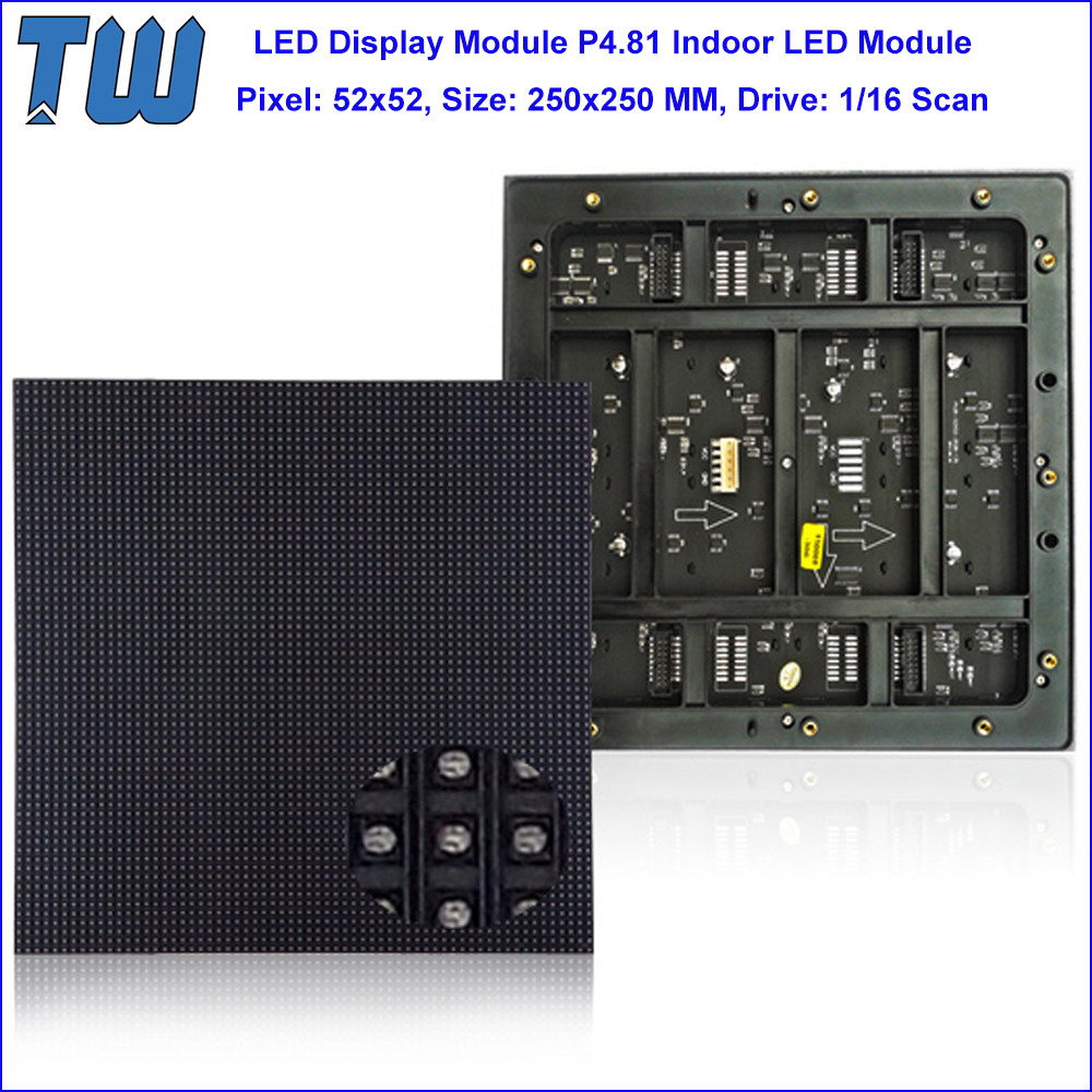 PH4.81 LED Video Panel 52x52 Dots Dynamic 1/16 Scanning Indoor Advertising Screen Rental Cabinet