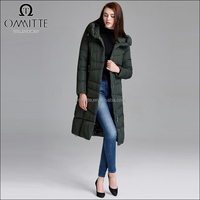 OEM Design Wholesale Women's Winter Coat Hood Long Female Overcoat