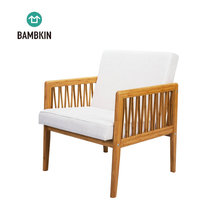 BAMBKIN Bamboo wooden living room furniture single seat sectional sofa chair