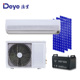 Off grid system DC 48V 18000BTU 100% solar air conditioner, split type for home use