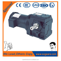 2 stage helical gearbox for conveyor