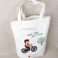 plain white cotton canvas tote bag/cotton women handbag/wholesale shopping plain white bag