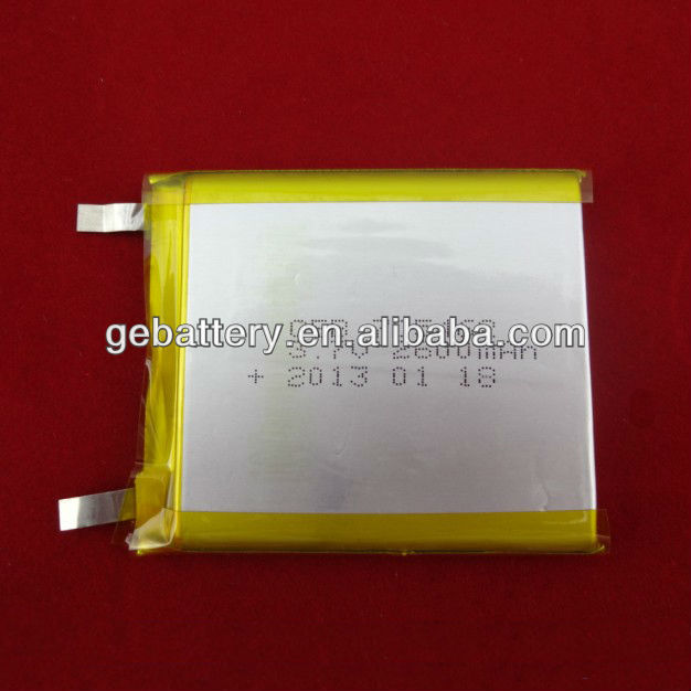 705462 2600mAh Rechargeable Lithium Polymer battery for GPS, Ebook