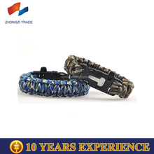 Supplies Cheap Whistle and Compass Survival Paracord Bracelets For Sale