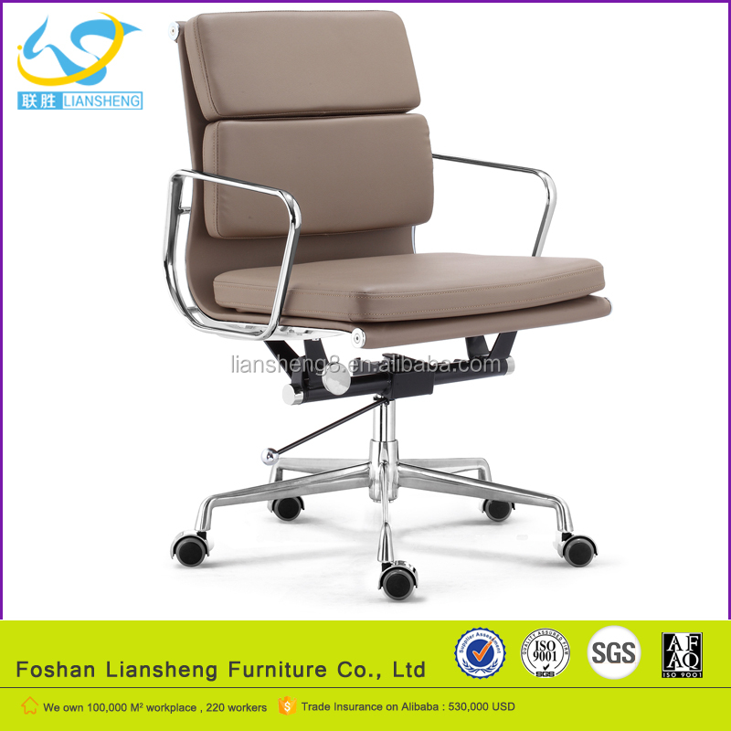 five stars legs middle back high quality boss leather office chair