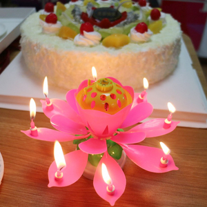 Hot Sale Cheap Music Birthday Party Adult Happy Cake With Candles