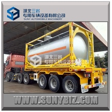 20ft tank container for chemical with Q345 , Stainless steel , Q345 inner PE