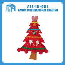 High quality customized felt small Christmas tree hanging ornament