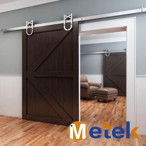 Factory direct sale interior solid wood sliding entry doors