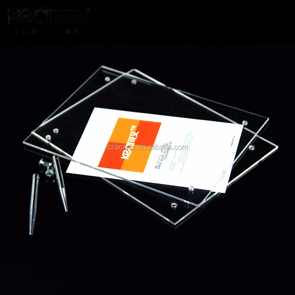 Fancy Clear Acrylic Table Menu Display Frame Nameplate Display Holder